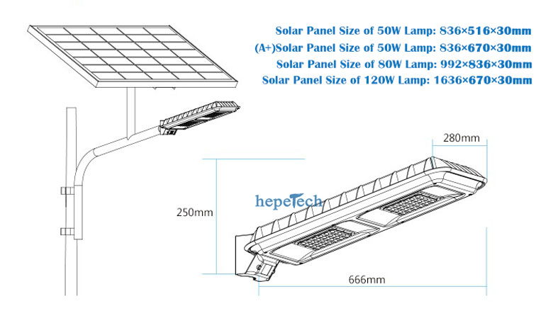 Bright Solar LED Garden Lights 50W, 80W, 120W 5 Years Warranty